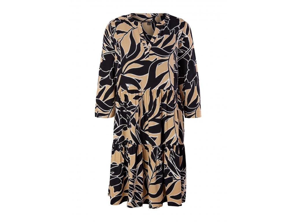 Vrstvené šaty s potiskem