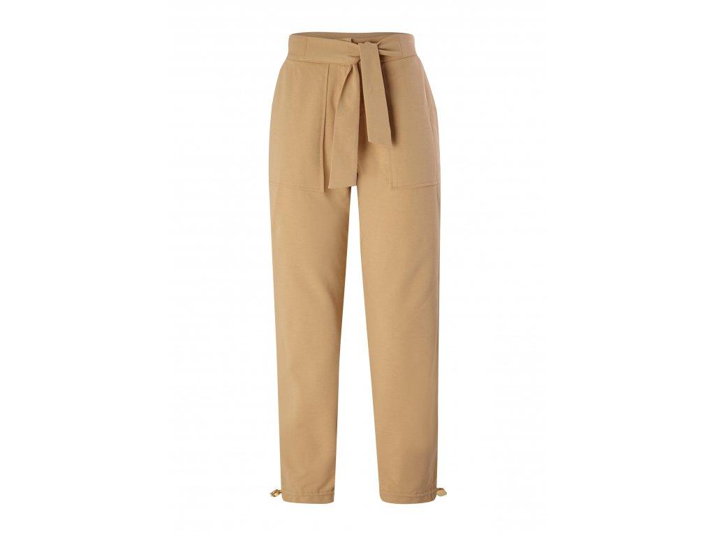 Béžové úpletové kalhoty