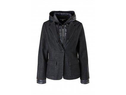 Úpletové sako s vsadkou