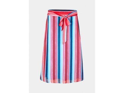 Pruhovaná midi sukně