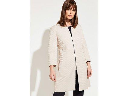 Jarní žakárový kabát