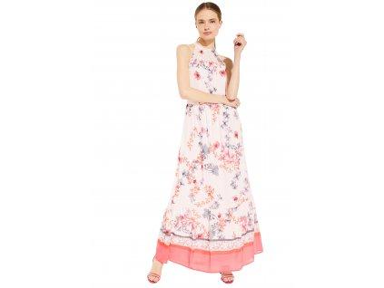 Růžové letní šaty s potiskem