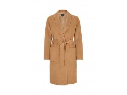 Vlněný béžový kabát