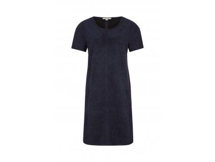 Modré oversize šaty