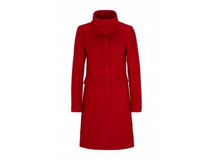 Červený buklé kabát