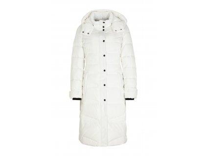 Bílý prošívaný kabát