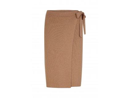 Béžová zavinovací sukně