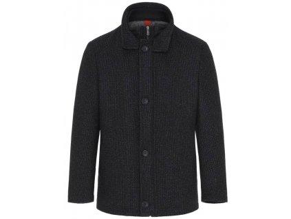 Tmavě šedý vlněný kabát