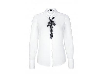 Bílá košile s černou vázankou