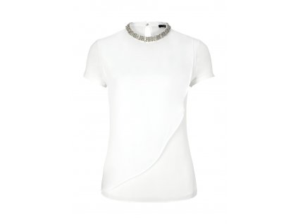 Bílé triko s kamínky