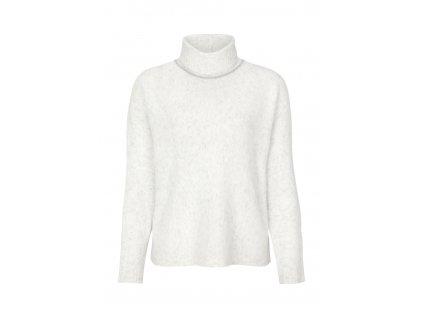 Bílý pletený rolák