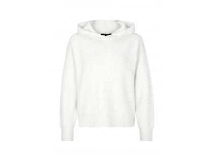 Bílý svetřík s kapucí