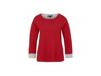 Červený basic pulovr