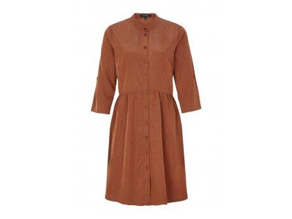 Volné hnědé šaty