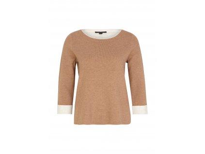 Hnědý pletený pulovr