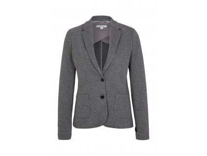 Úpletové sako s jemným vzorem