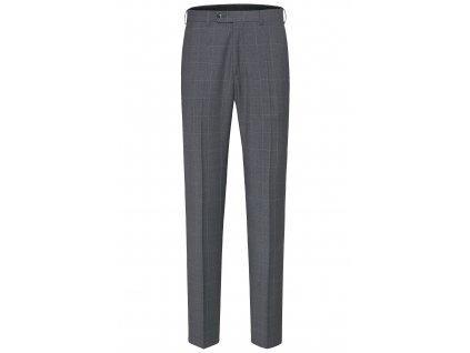 Šedé oblekové kalhoty s kostkou Per