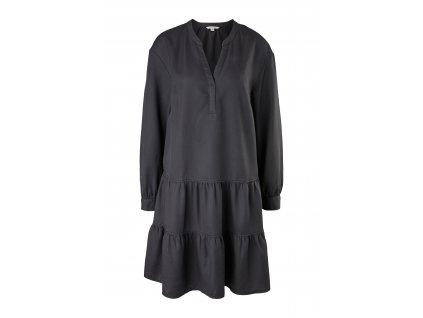 Černé šaty s volány