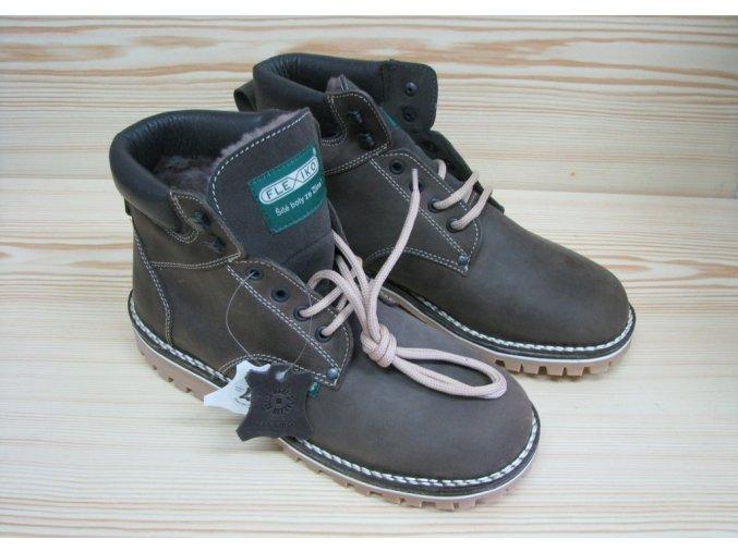 Zimní kotníková obuv s beranem
