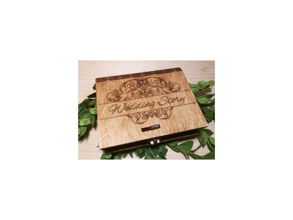 Dřevěná krabička usb 1