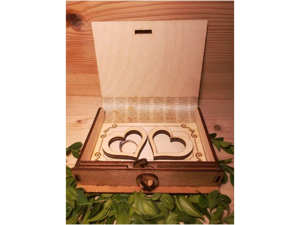 Krabička na svatební prsten