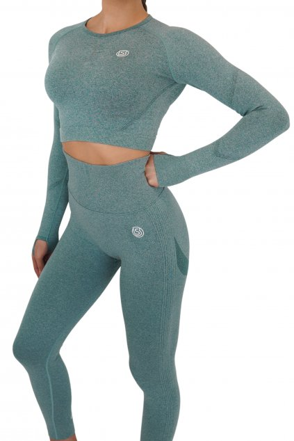 Crop top Confidence - Forest green