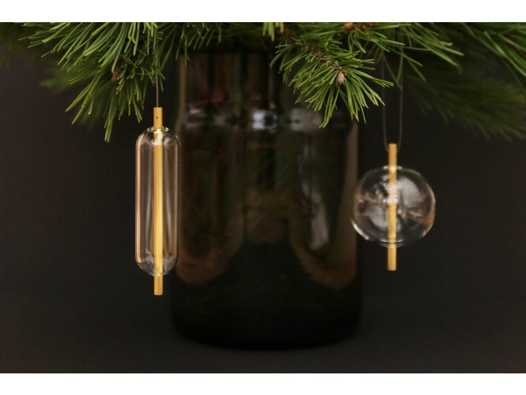 Skleněné vánoční ozdoby - sada dvou kusů