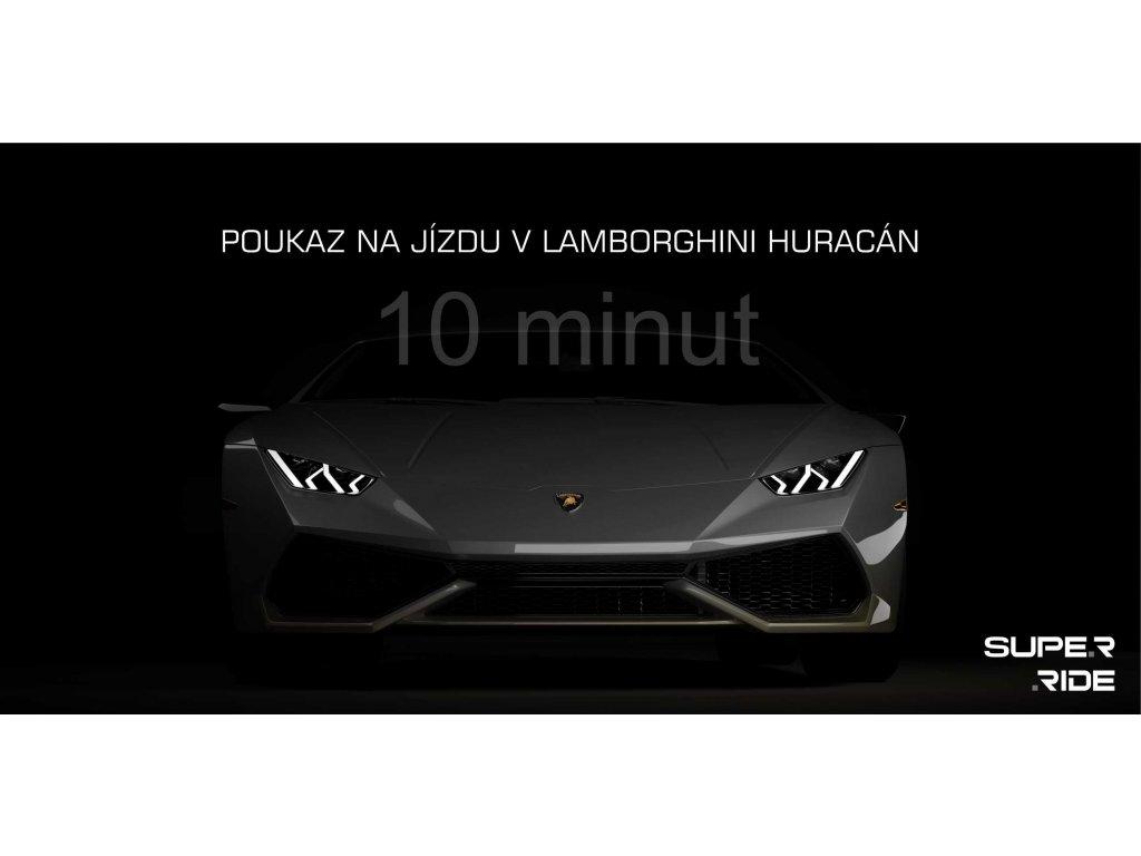 Poukaz na 10 minut jízdy v Lamborghini Huracán vč. PHM