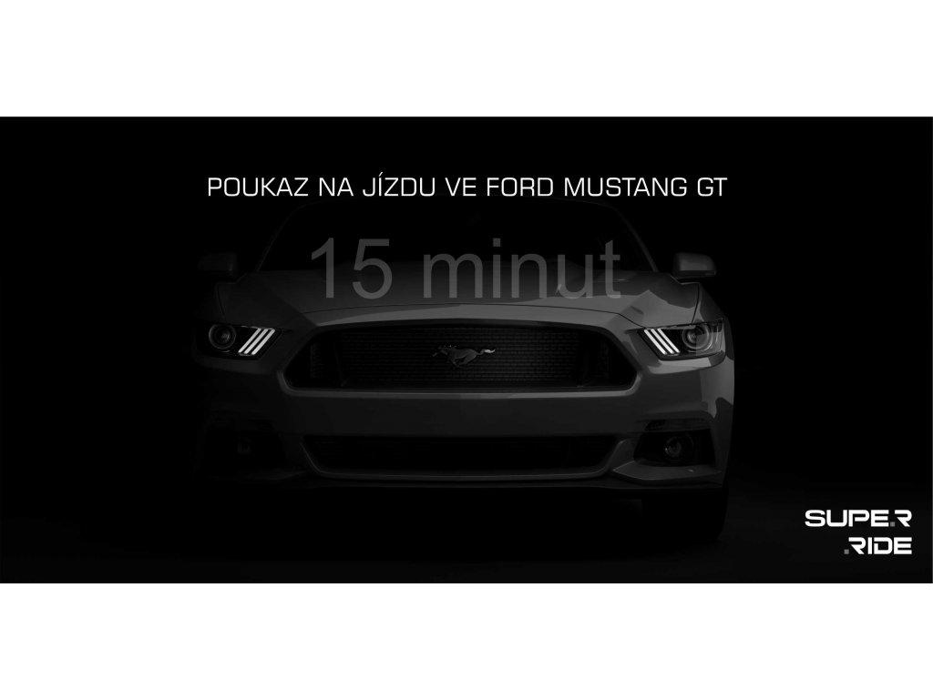 Poukaz na 15 minut jízdy ve Fordu Mustang GT 5.0 vč. PHM