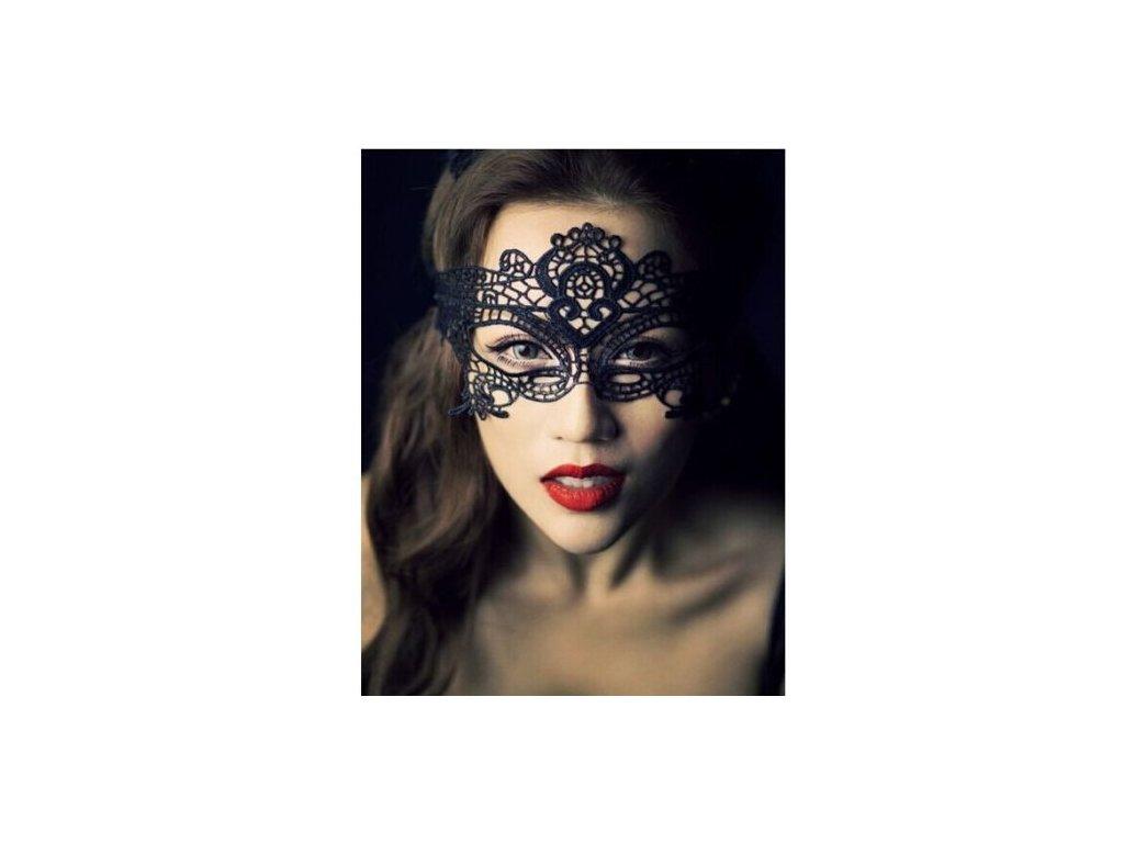 eroticka krajkova maska flower oblicej