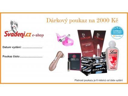 darkovy poukaz svadeni 2000