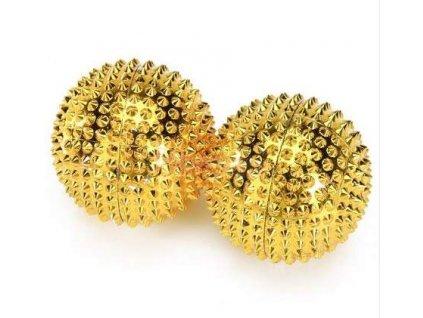 zlate akupresurni kulicky s magnetem 2 kusy