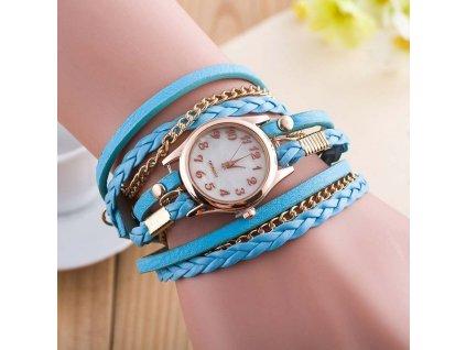 kozene damske hodinky modre