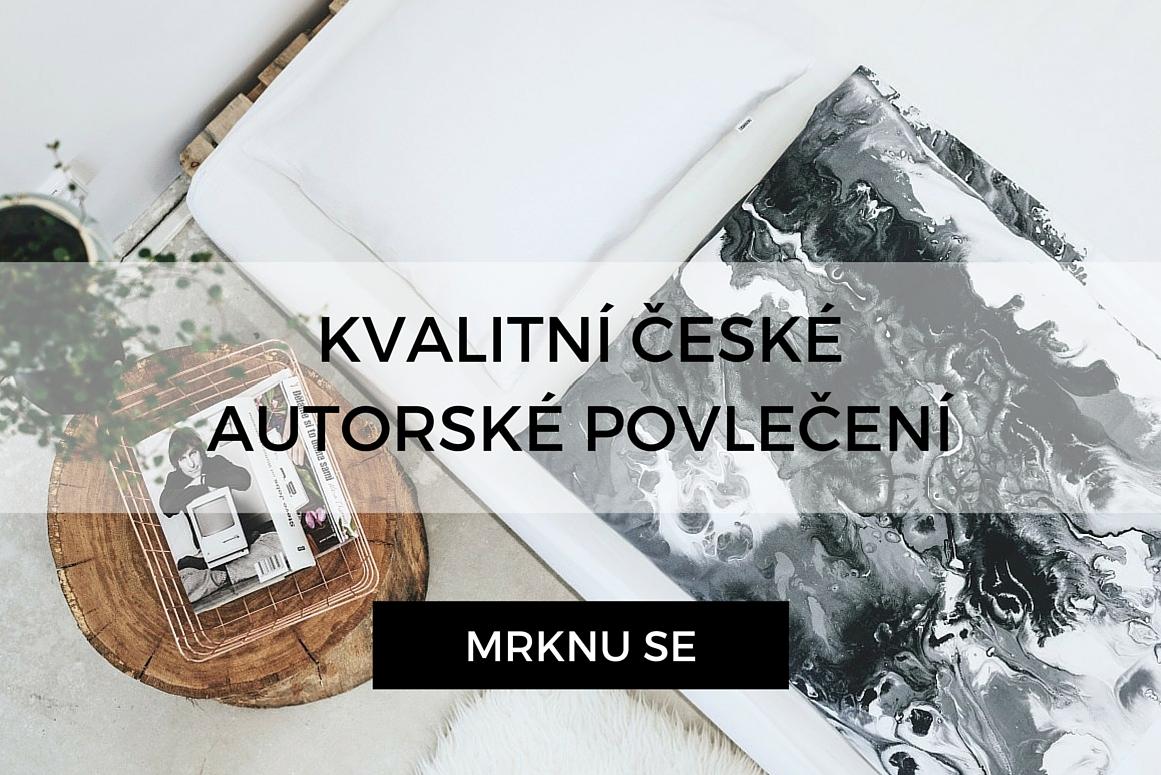 Luxusní povlečení české výroby s autorským motivem