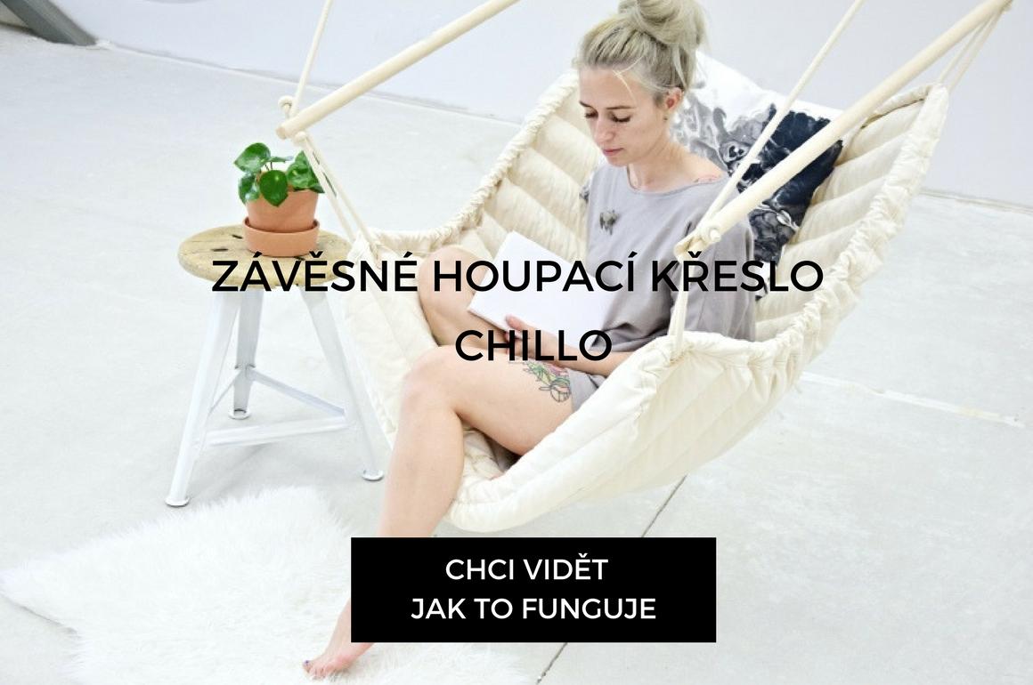 Multifunkční závěsné houpací křeslo české výroby