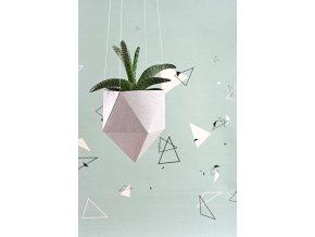 zavesny kvetinac geometric pratelny papir tamarki 15