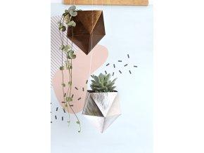 zavesny kvetinac geometric pratelny papir tamarki 26