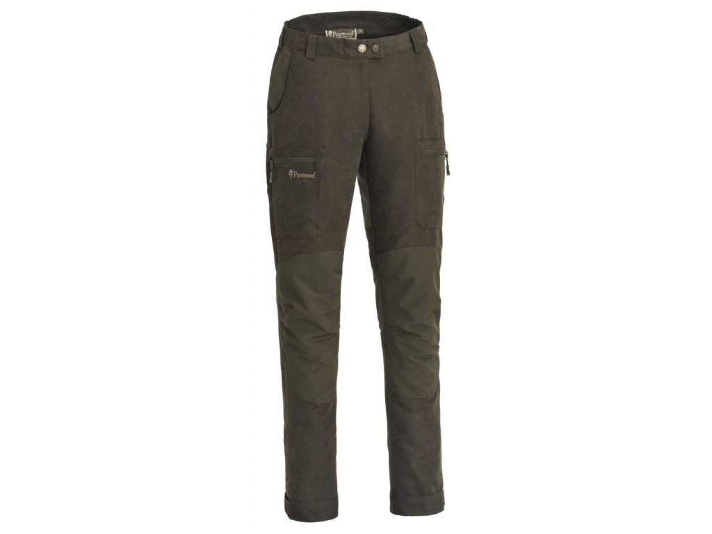 3986 244 01 pinewood womens trousers caribou hunt extreme suede brown dark olive
