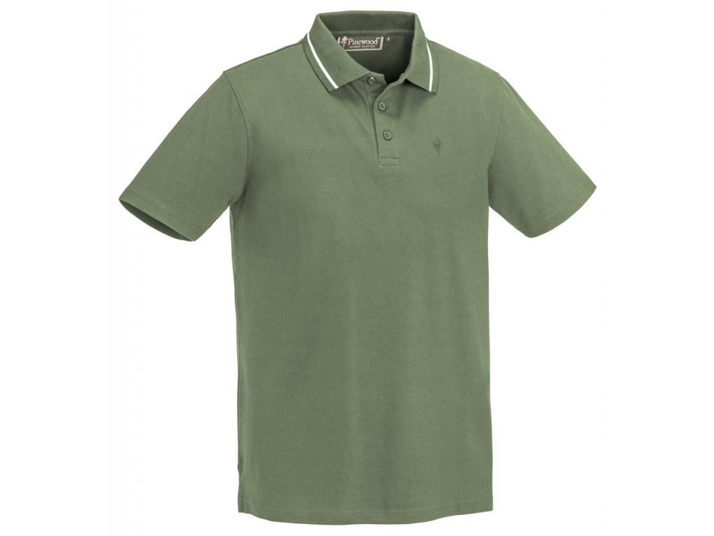 5458 137 1 pinewood polo shirt outdoor life mid green