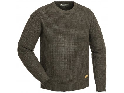 5548 207 01 pinewood knitted sweater ralf brown melange