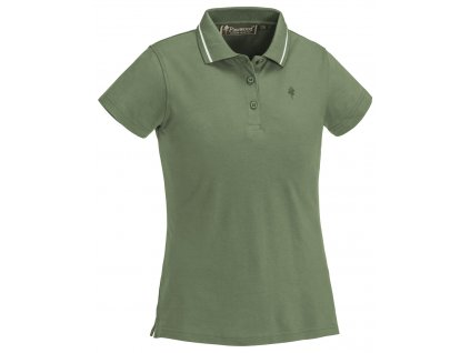 3318 137 1 pinewood womens polo shirt outdoor life mid green