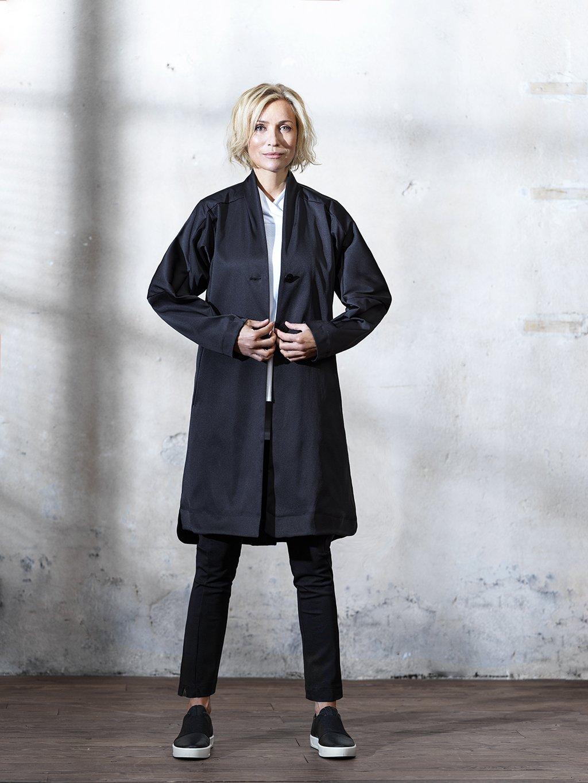 2660 Dlouhý kabátek s lomenými rukávy