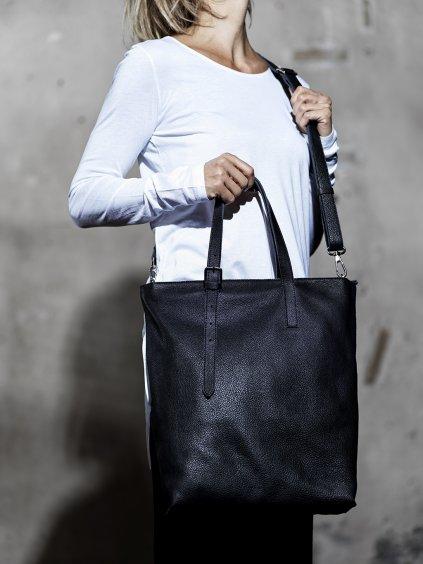 035 Kožená taška shopper