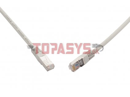 10G patch kabel CAT6A SFTP LSOH 0,5m šedý non-snag-proof C6A-315GY-0,5MB