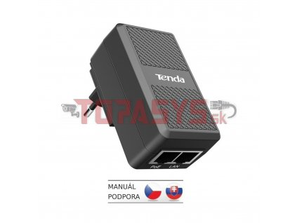 Tenda PoE15F-48V-I Fast Ethernet Power Injector, 15.4 W, 10/100Mb/s, 802.3