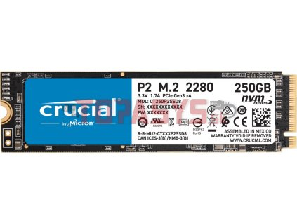 Crucial P2 250GB M.2 NVMe 2100/1150MB/s