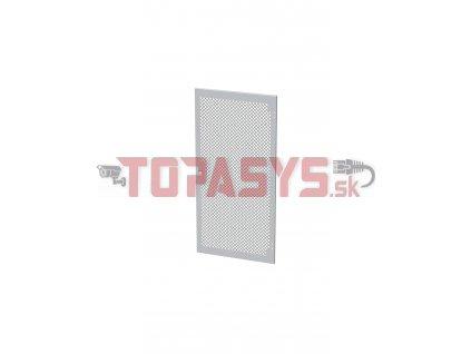 Dveře plechové s perforací LC-50, 24U, šířky 600, RAL7035, 1-bodový zámek