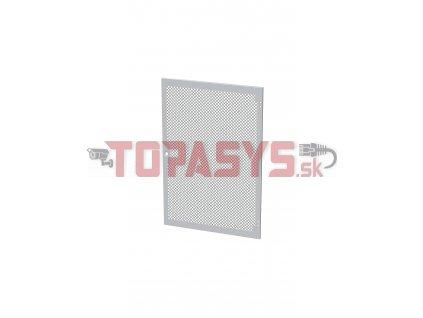 Dveře plechové s perforací LC-50, 24U, šířky 800, RAL7035, 1-bodový zámek
