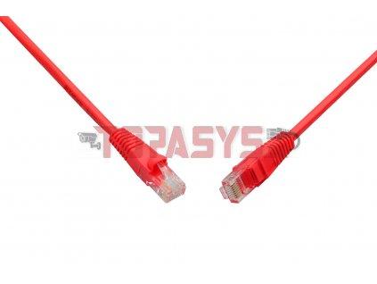 Patch kabel CAT5E UTP PVC 0,5m červený snag-proof C5E-114RD-0,5MB