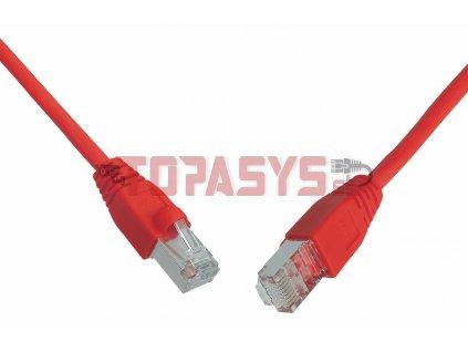 Patch kabel CAT6 SFTP PVC 0,5m červený snag-proof C6-315RD-0,5MB